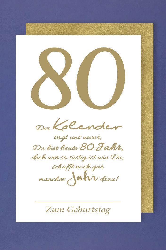 Geburtstag Karte.80 Geburtstag Karte Grusskarte Kalender Viel Text Foliendruck 16x11cm 1 2 3 Geburtstag