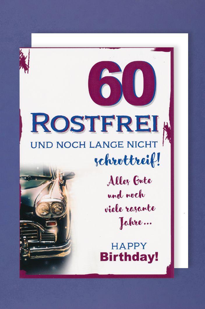 Text geburtstagskarte zum 60