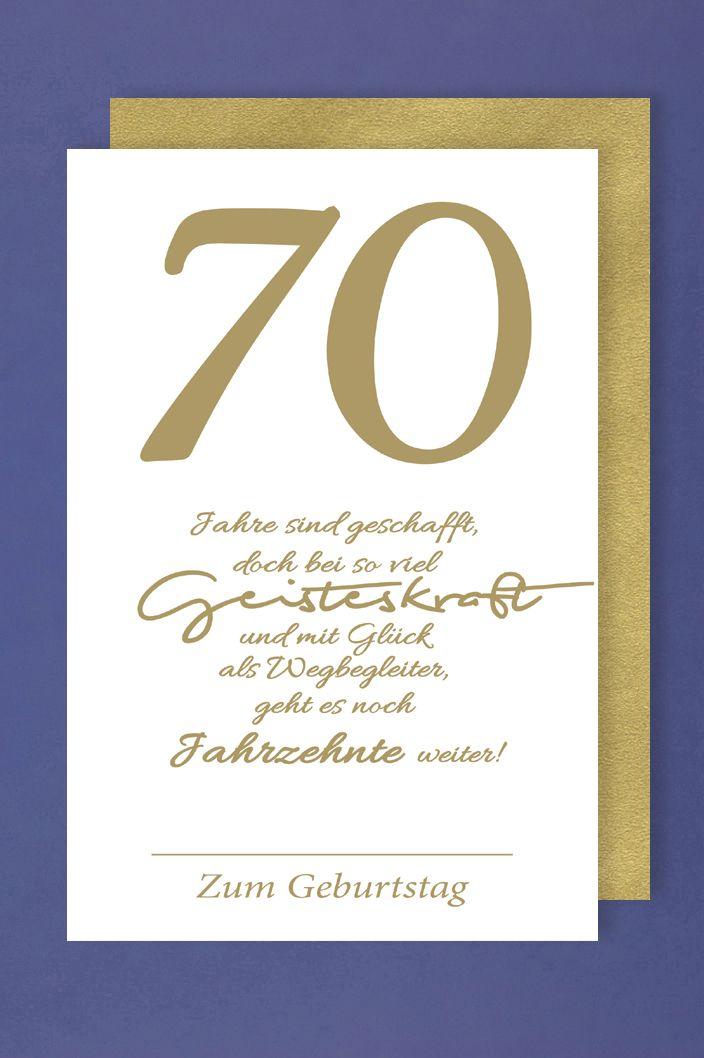 70. Geburtstag Spruch Für Karte