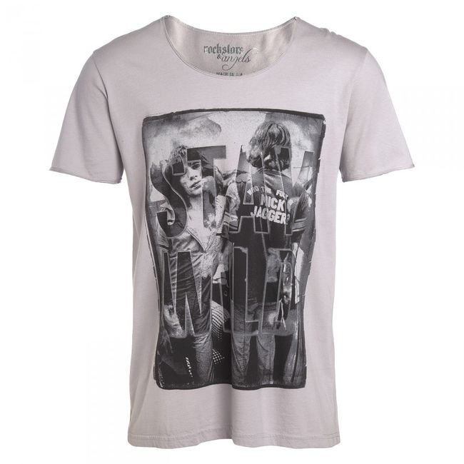Rockstars & Angels T-Shirt Stay Wild Rock Cut grey Men