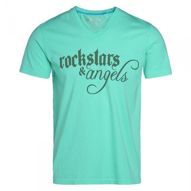 Rockstars & Angels Logo V-Neck T-Shirt black Men