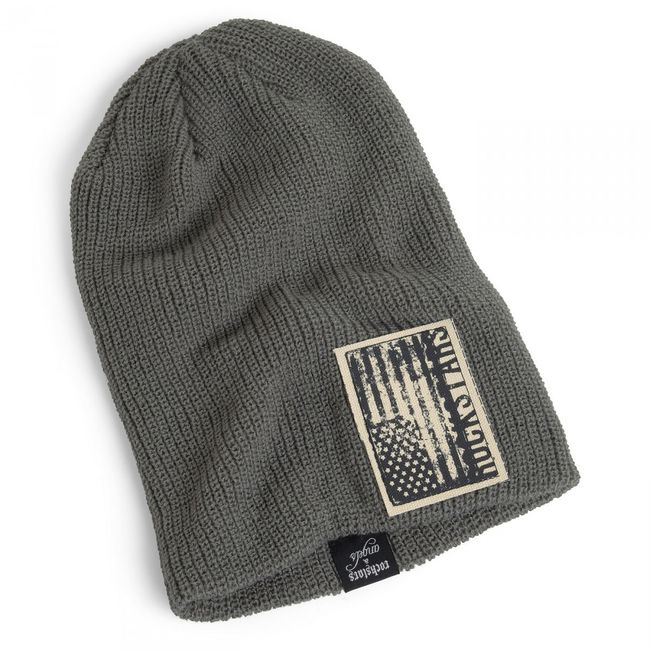 Rockstars & Angels Unisex Beanie USA Flag grey