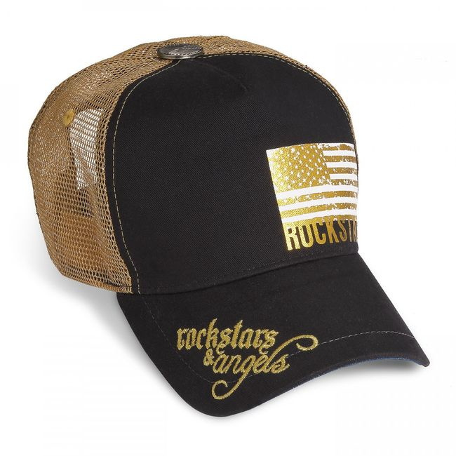 Rockstars & Angels Unisex Cap Rockstars Flag black / gold
