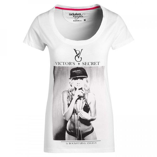 Rockstars & Angels Women T-Shirt Victor Secret Hip Hop white