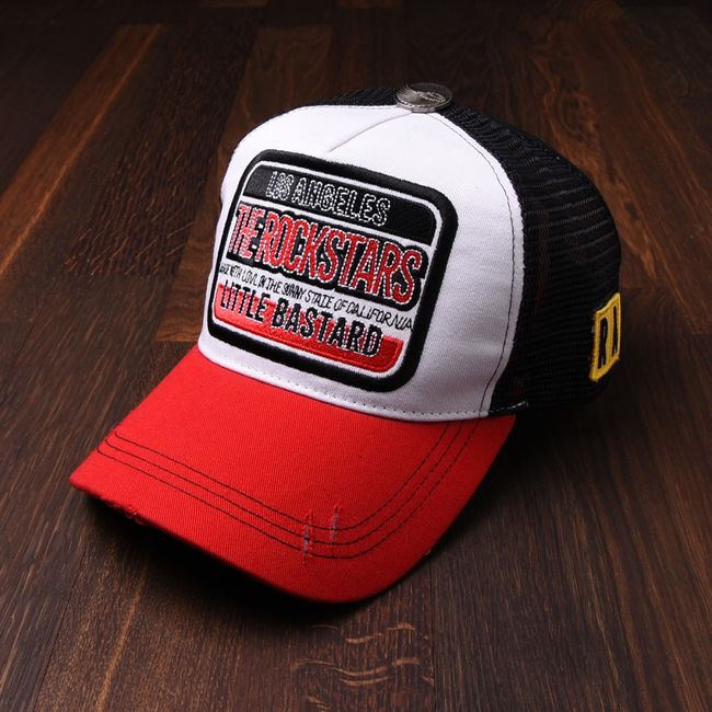 Rockstars & Angels Unisex Cap Little Bastard red black