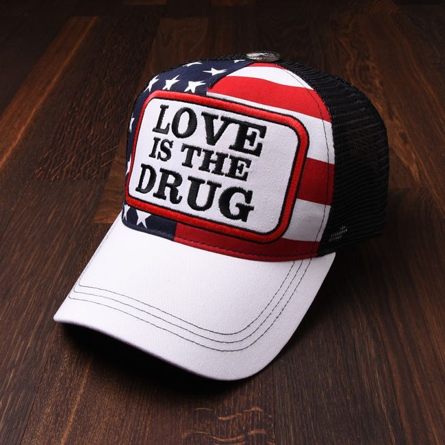 Rockstars & Angels Unisex Cap Love is the Drug american flag