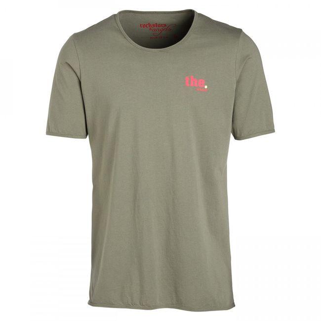 Rockstars & Angels Men T-Shirt the Rockstars Bungalow Cut Army Green Herren MEN