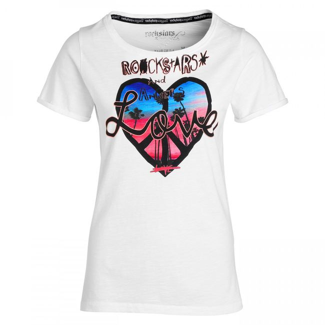 Rockstars & Angels California Love Women T-Shirt White