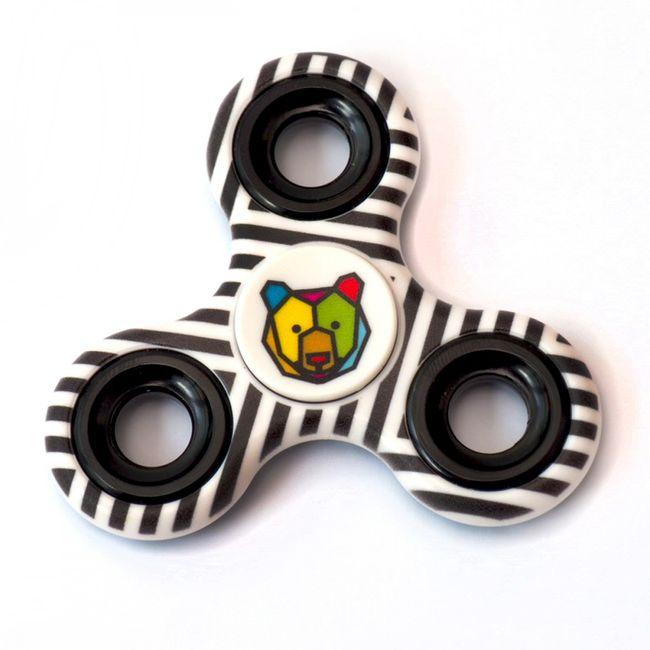 Jaden Bojsen Spinner Spielzeug Hand Finger Fidget Spinner white / black