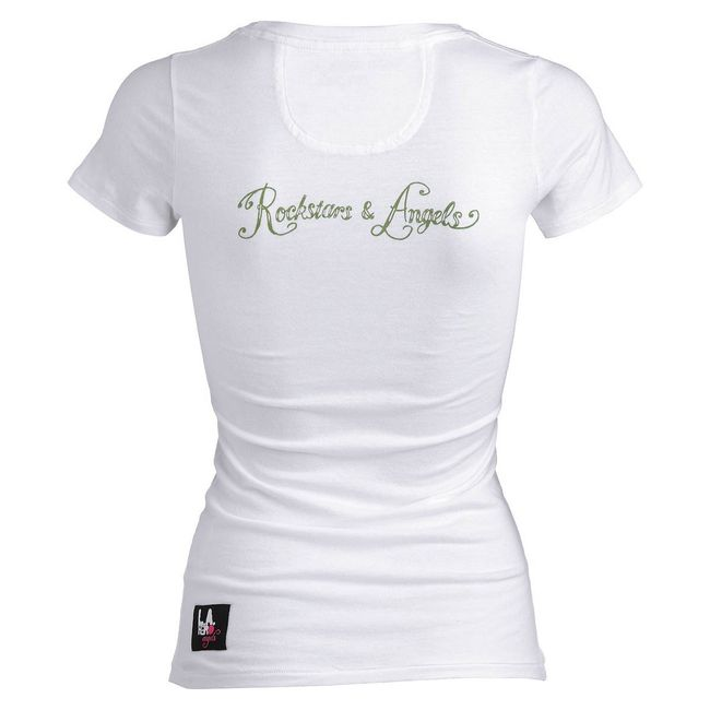 Rockstars & Angels I Love Jess / V-Neck T-Shirt white