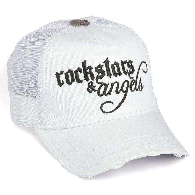 Rockstars & Angels Unisex Cap Logo klein weiss