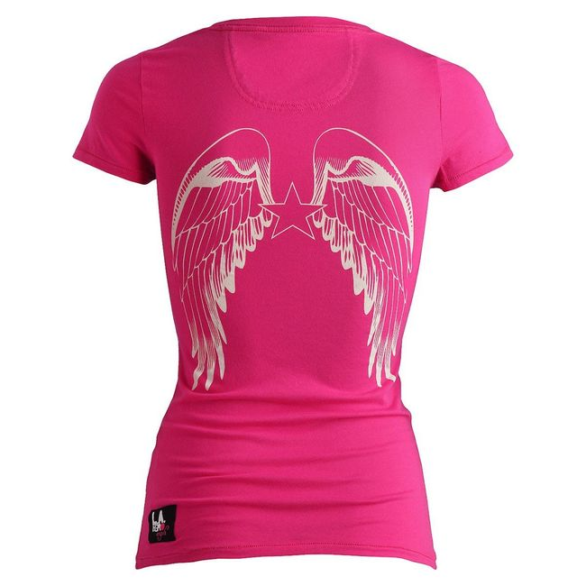 Rockstars & Angels Logo / Round-Neck T-Shirt pink Damen