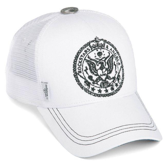 Rockstars & Angels Crest Cap weiß
