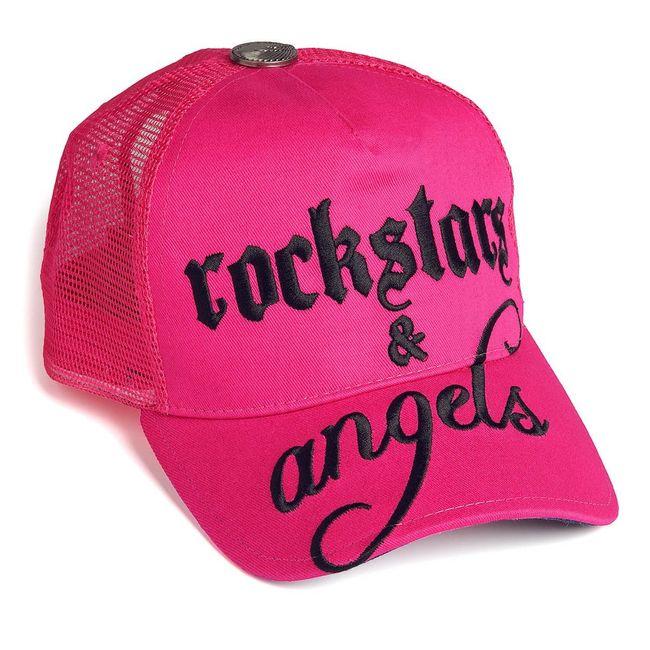 Rockstars & Angels Unisex Cap Logo Large pink