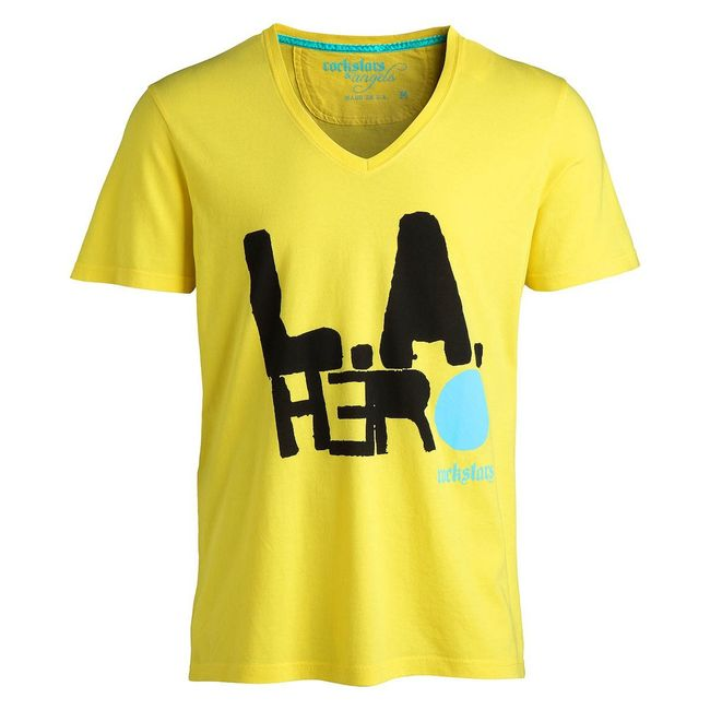 Rockstars & Angels LA Hero T-Shirt yellow