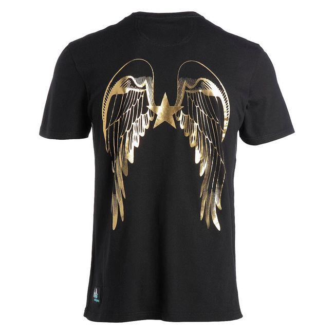 Rockstars & Angels Logo Wings / Round-Neck T-Shirt schwarz Herren