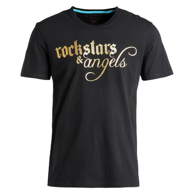 Rockstars & Angels Logo Wings / Round-Neck T-Shirt black