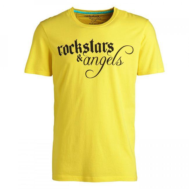 Rockstars & Angels Logo Wings / Round-Neck T-Shirt gelb Herren