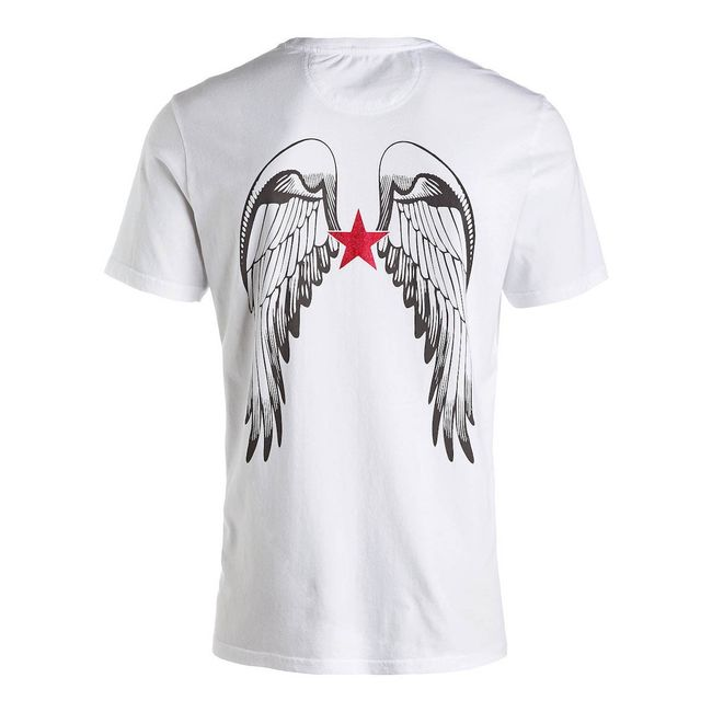 Rockstars & Angels Men T-Shirt Logo weiss/grey