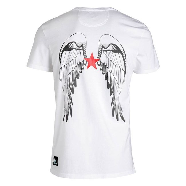 Rockstars & Angels Logo Wings / V-Neck T-Shirt weiß Herren
