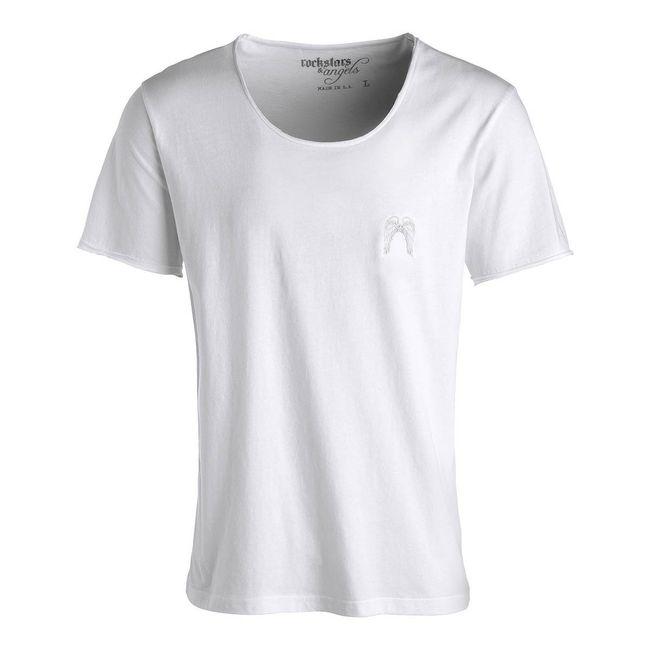 Rockstars & Angels Rock Cut Wings T-Shirt weiß Herren