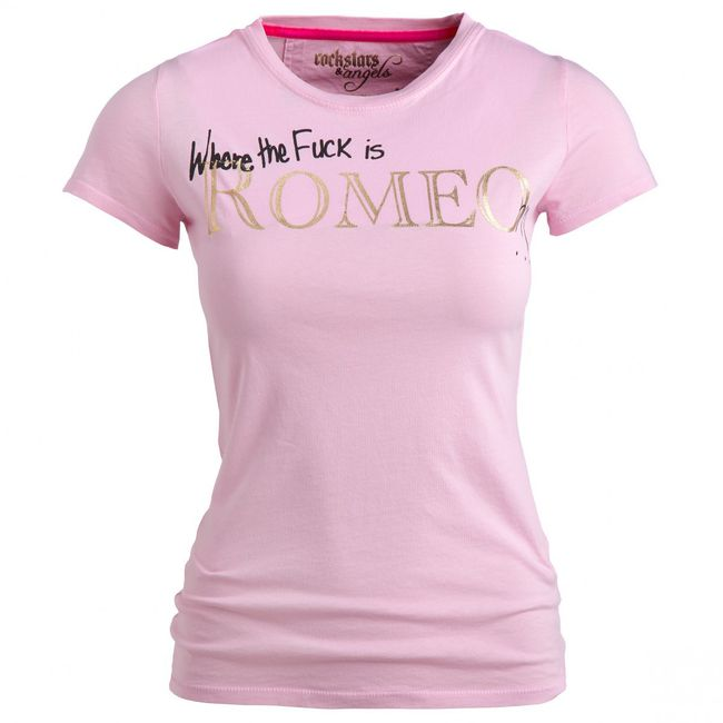 Rockstars & Angels Romeo T-Shirt rose Women