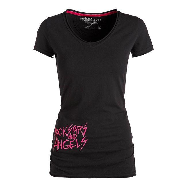 Rockstars & Angels Couple T-Shirt schwarz Damen
