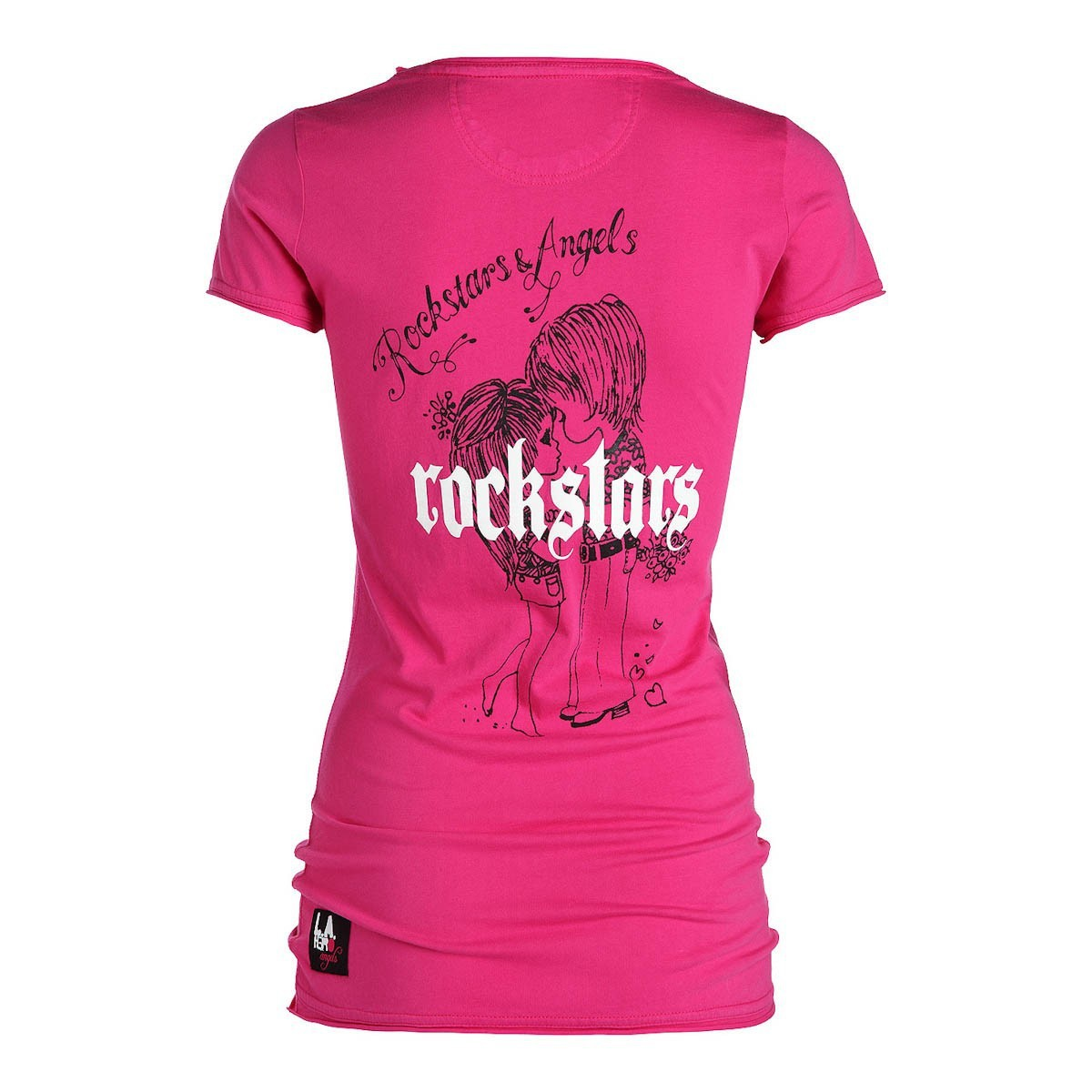 rockstars angels couple t shirt pink women t shirts. Black Bedroom Furniture Sets. Home Design Ideas