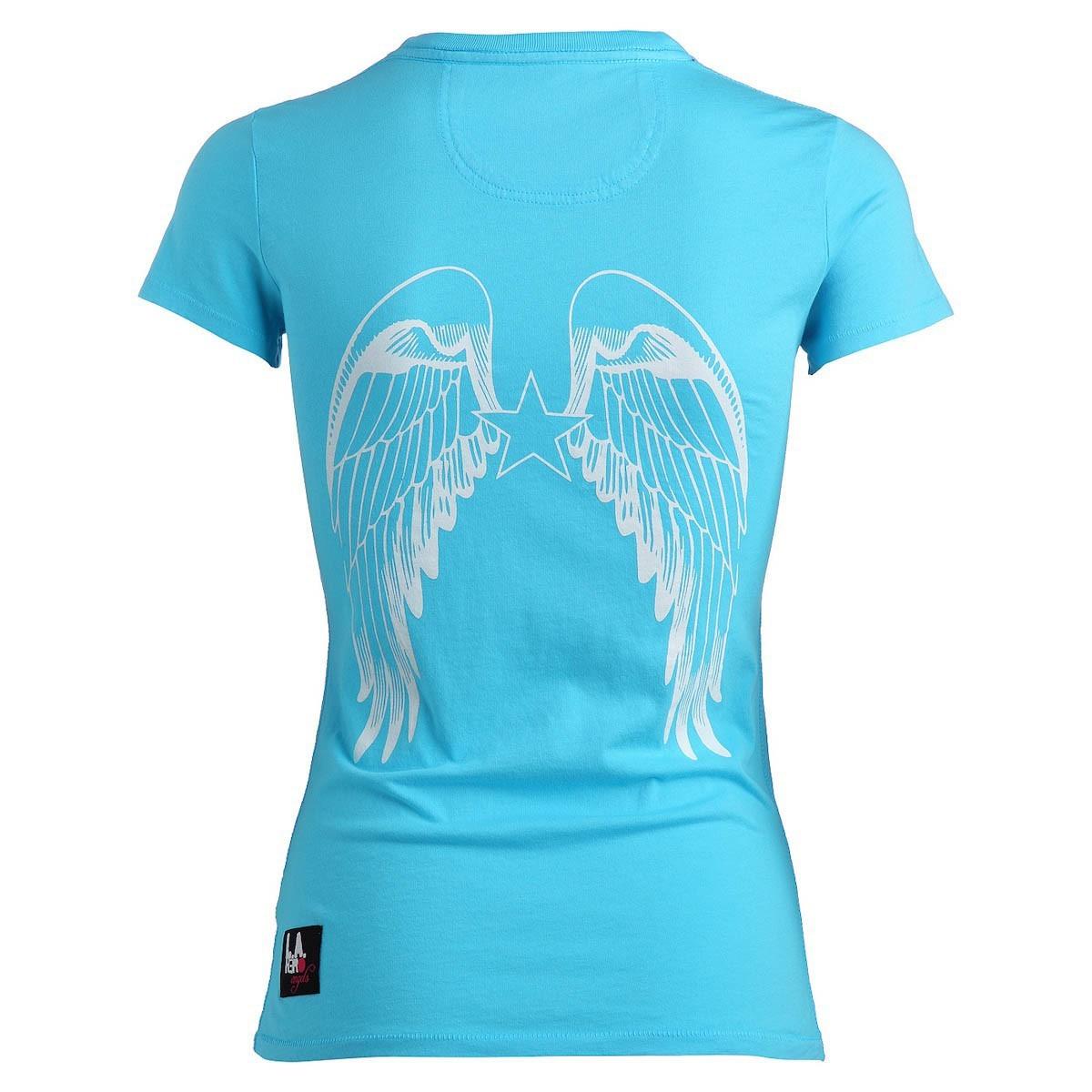 rockstars angels logo round neck t shirt t rkis damen. Black Bedroom Furniture Sets. Home Design Ideas