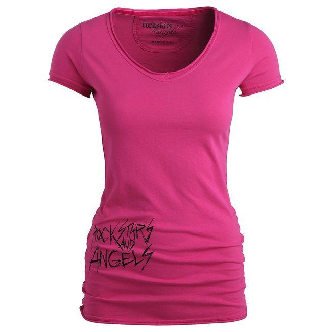 Rockstars & Angels New Logo T-Shirt pink Damen