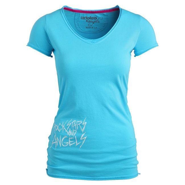 Rockstars & Angels New Logo T-Shirt turqoise