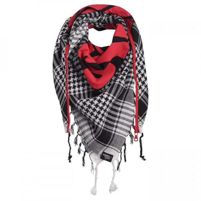Rockstars & Angels Unisex Scarf Zipper Wanted weiss/rot