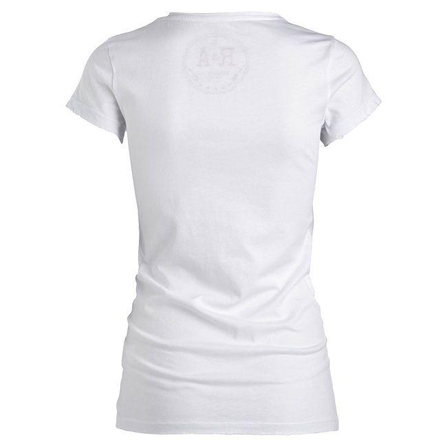 Rockstars & Angels USA Flag T-Shirt white Women