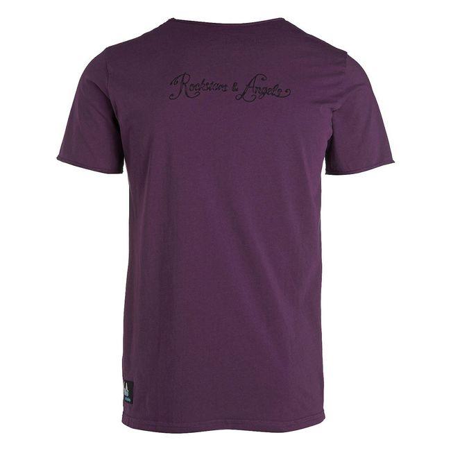 Rockstars & Angels Rock Cut Wanted T-Shirt lila Herren