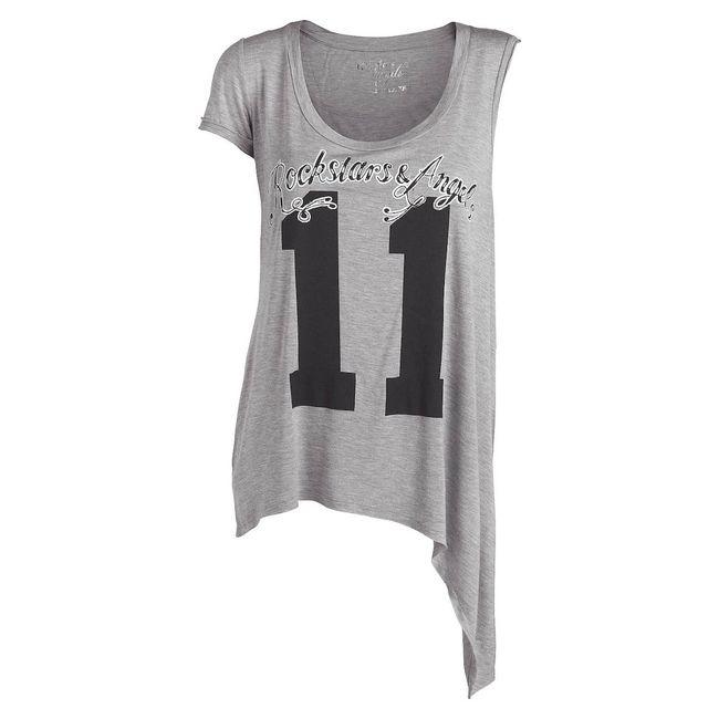 Rockstars & Angels Tunic Pocket Asymmetrisch 11 grey Women