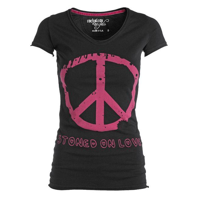 Rockstars & Angels Stoned on Love T-Shirt black Women