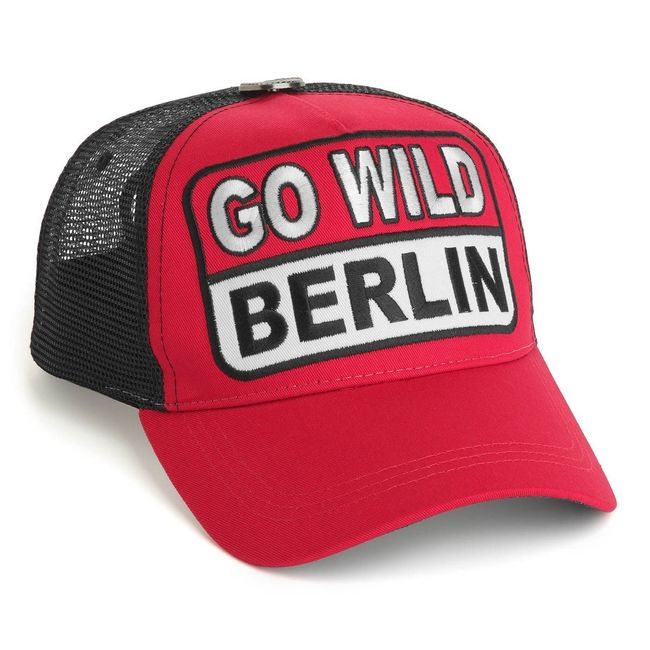 Rockstars & Angels Cap Go Wild Berlin red schwarz