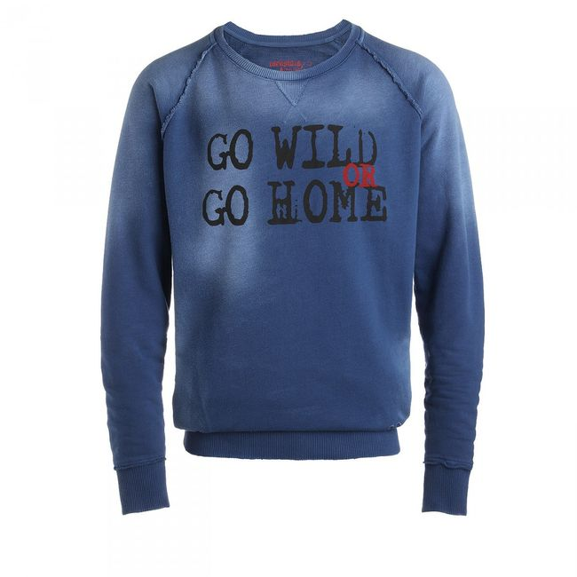 Rockstars & Angels Men Sweater Go Home blue