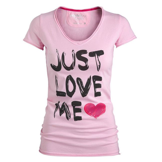 Rockstars & Angels T-Shirt Just Love me rosa Women