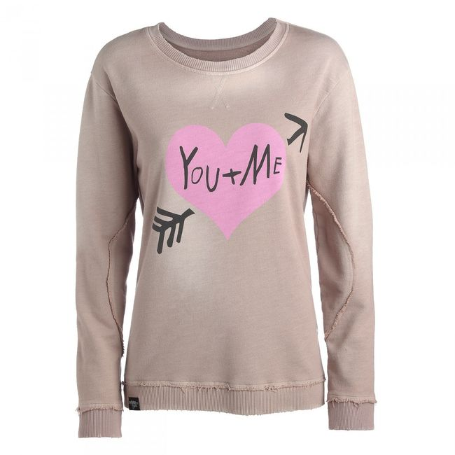 Rockstars & Angels Women Sweater You+Me grey