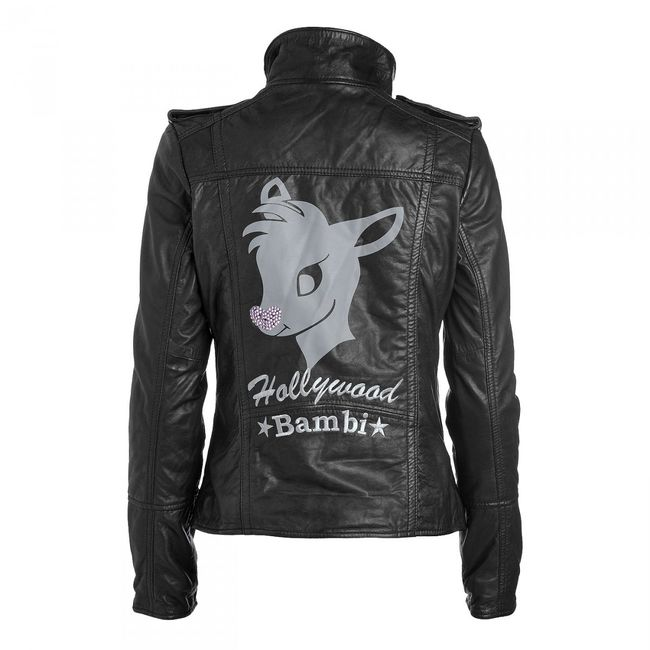 Rockstars & Angels Bambi Rock Women Leather Jacket black
