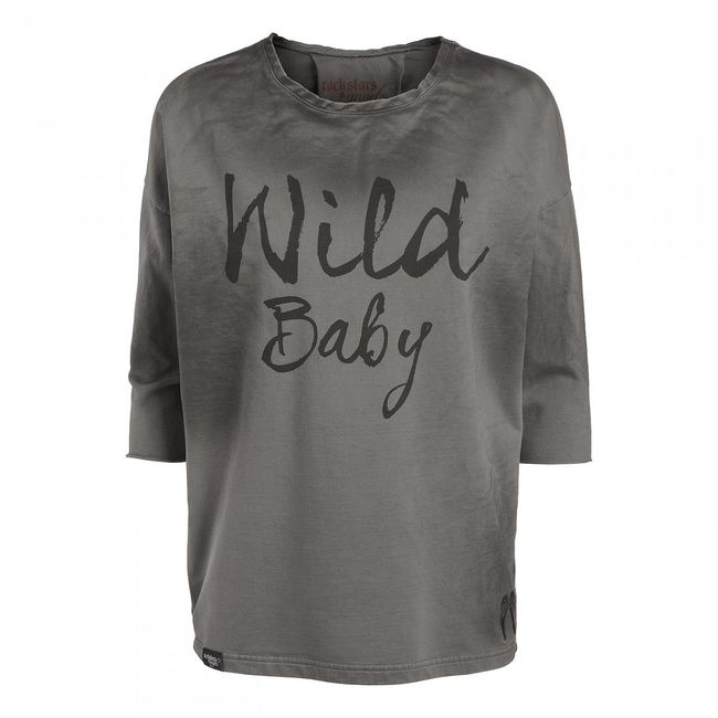 Rockstars & Angels Sweater Wild Baby black wash Women