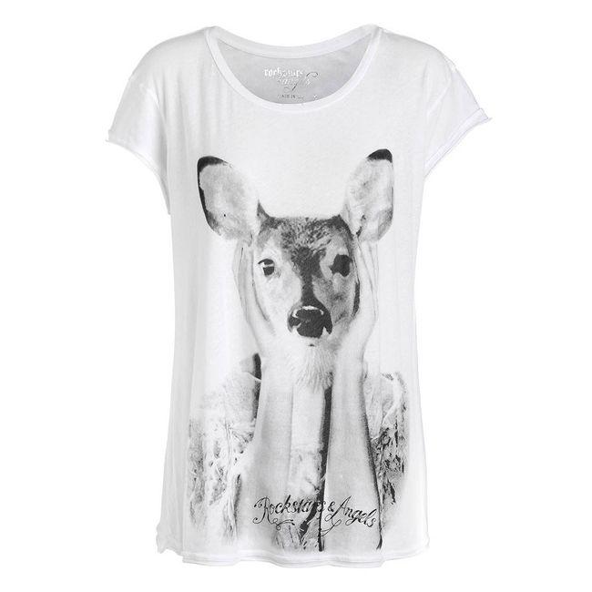 Rockstars & Angels Bambi white T-Shirt Angels Cut Women