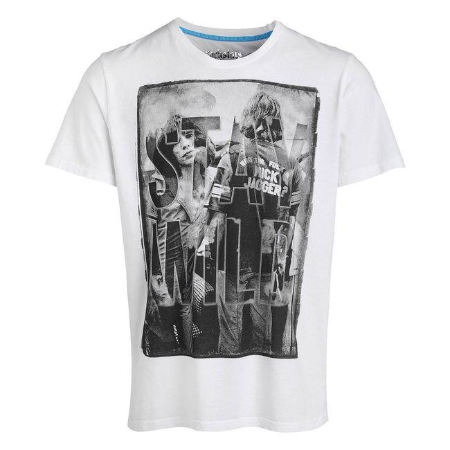 Rockstars & Angels T-Shirt Stay Wild Round Neck white Men