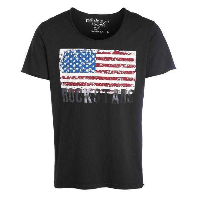 Rockstars & Angels Men T-Shirt Flag black