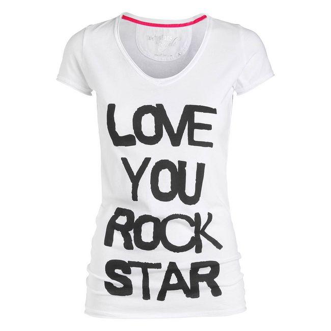 Rockstars & Angels T-Shirt Love your Rockstar white Women