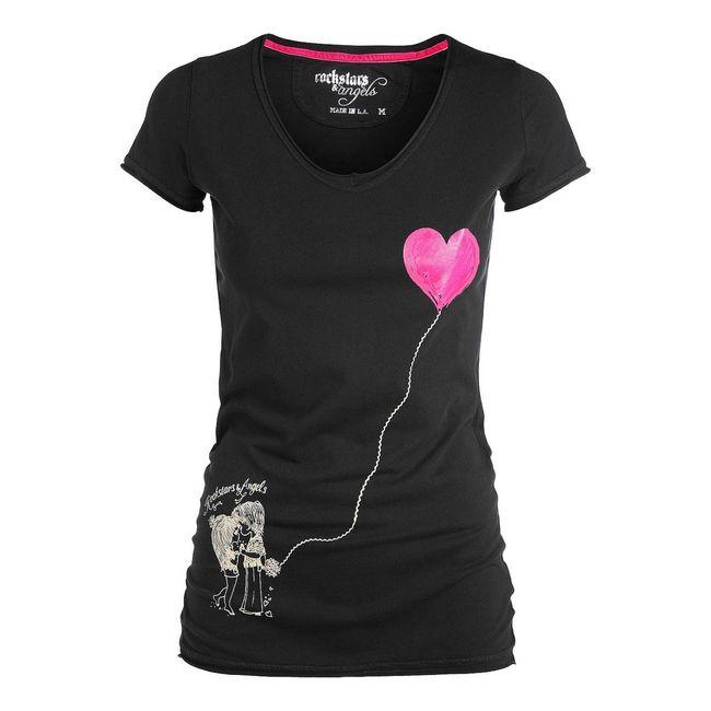 Rockstars & Angels T-Shirt Couple in Love black Women