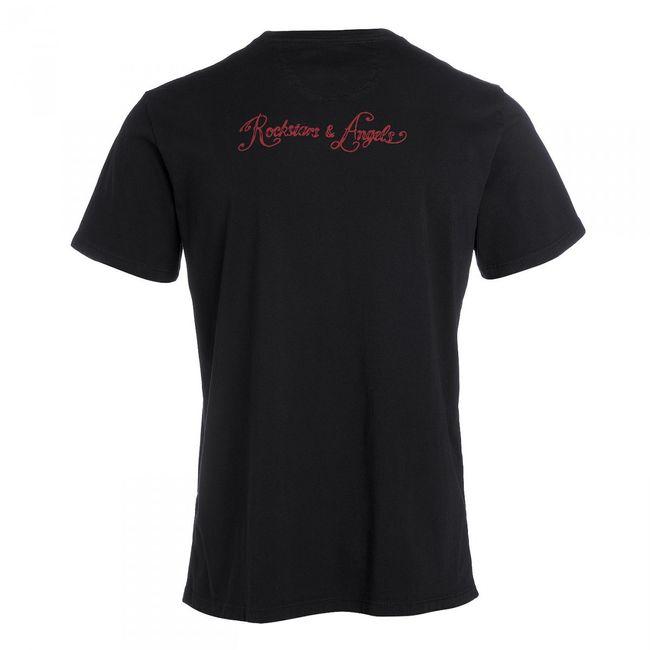 Rockstars & Angels 11 Flag T-Shirt schwarz Herren Rund-Neck
