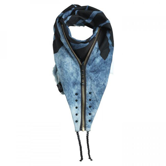 Rockstars & Angels Unisex Scarf Denim Blue blue/black