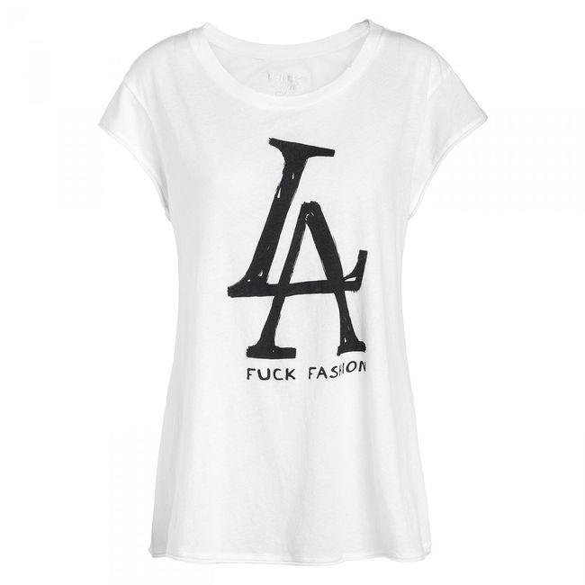 Rockstars & Angels Fuck Fashion T-Shirt Damen white/black